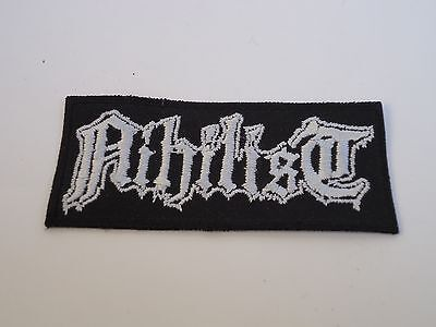 NIHILIST LOGO DEATH METAL EMBROIDERED PATCH