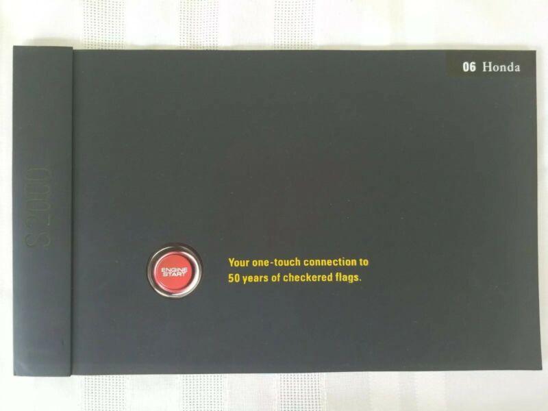 2006 Honda S2000  Dealer Sales Brochure