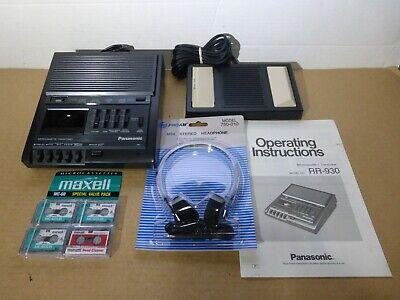 Panasonic Rr-930 Microcassette Dictation Transcriber System Tapes