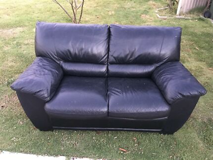 Leather couch 2 seater good condition