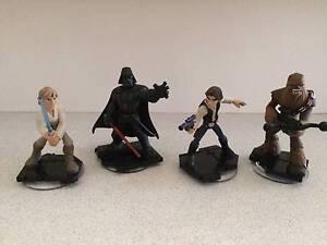 STAR WARS Disney Infinity 3.0 Figures (Vader Luke Han Chewbacca) Nundah Brisbane North East Preview