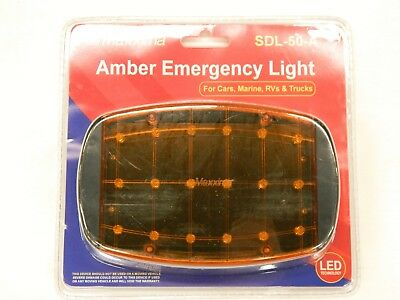 Maxxima Sdl-50a Amber Emergency Light Flasher Battery Magnetic Oversize Load