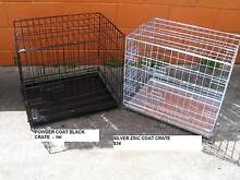 NEW MED Collapsible Metal Dog Puppy Cage Crate with METAL TRAY Kingston Logan Area Preview