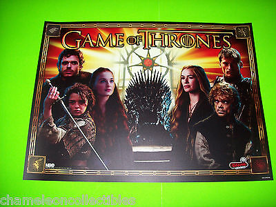 GAME OF THRONES PRO By STERN ORIGINAL PINBALL MACHINE TRANSLITE BACKGLASS ART