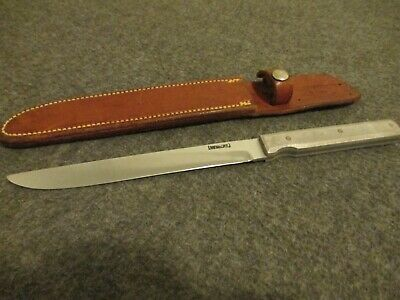 "ORIGINAL RANDALL 10-7 SLAB ""STOCK REMOVAL"" 440B STEEL FIXED BLADE KNIFE W/SHEATH"