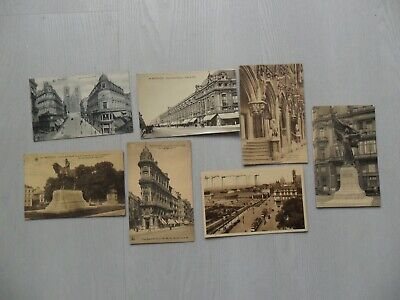 Vintage : lot cpa  Bruxelles 1912, 13, 23, 29, 30, 35 état voir les 2 photos