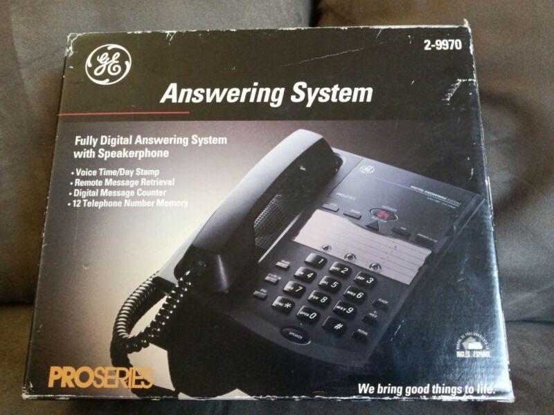 GE PRO SERIES DIGITAL ANSWERING PHONE SYSTEM WITH SPEAKERPHONE MODEL 2-9970 NEW