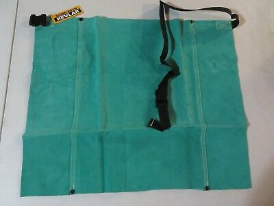New Superior Welder Weld Welding Leather Bib Apron 18 X 24 Green Color Al1823