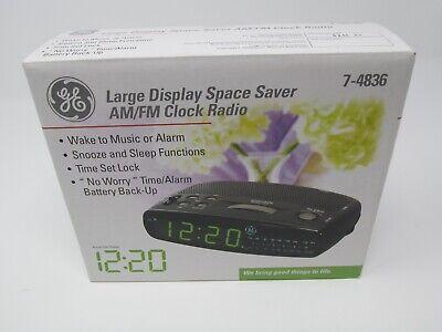 NEW GE 7-4836 AM/FM Alarm Clock Radio Space Saver Large Display