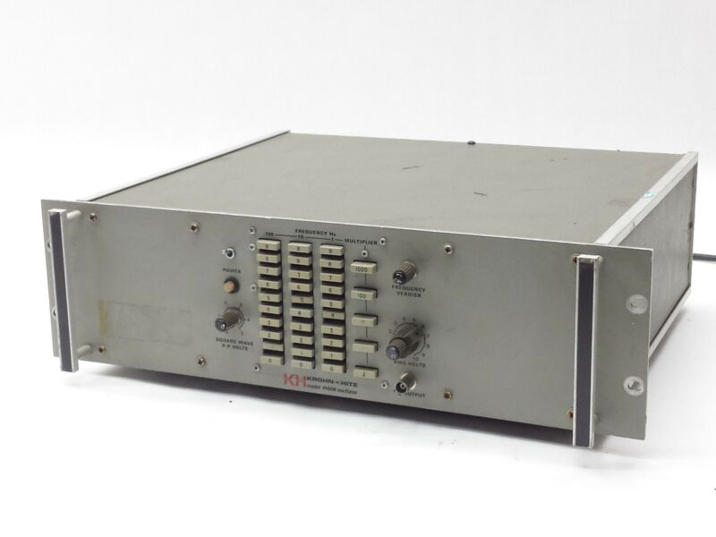 KROHN-HITE 4100A LOW DISTORTION OSCILLATOR SINEWAVE ANALOG SIGNAL 10Hz-1MHZ
