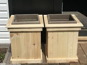 Pair of planter boxes for sale $55.00 each planter