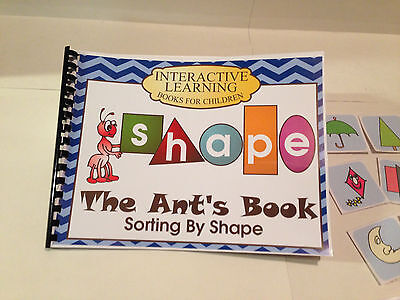 Interactive Cards (Interactive Learning Books for Children - Shapes- w/ 30 Laminated Cards)