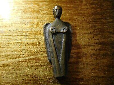 alte kleine Bronze Figur, ENGEL Glücksbringer für Tasche