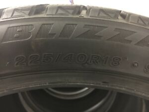 Bridgestone Blizzak WS80 Winter Tires 225 40 R18