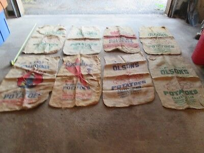 8 Used Burlap Sacks Bags Gunny Sack race Vintage Farm Agriculture lot 6 for sale  Shipping to Canada