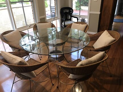 Glass Dining Table and Chairs - Priced to Sell!
