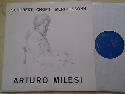 SCHUBERT / CHOPIN / MENDELSSOHN Arturo Milesi *RARE SWISS PRIVATE PRESS VINYL*