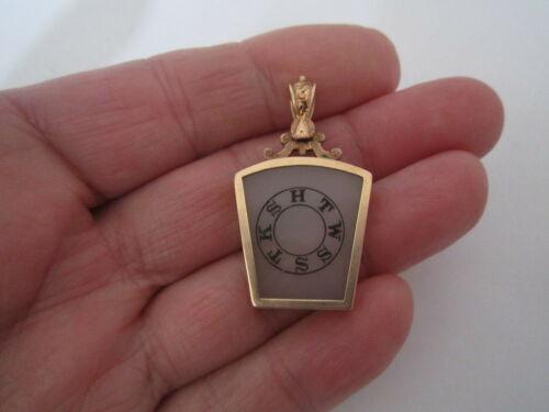 Large 14K Rose Gold Royal Arch Masonic Temple Charm/Pendant FOB York Masonry