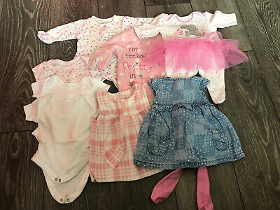 Bundle Of Baby Girl Clothes 9lb