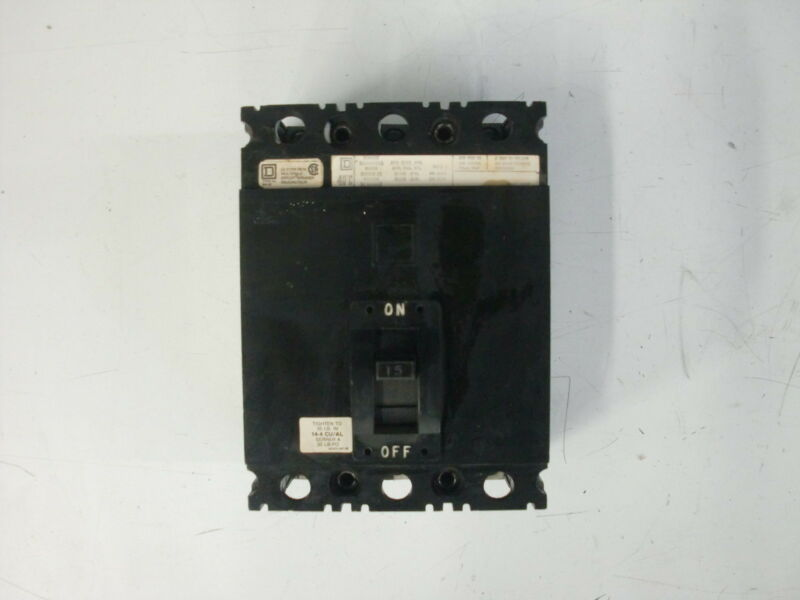 SQUARE D MOLDED CASE CIRCUIT BREAKER FAL 34015