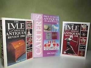 3x Antiques Guides LYLE & Carter's As Shown Preston Darebin Area Preview