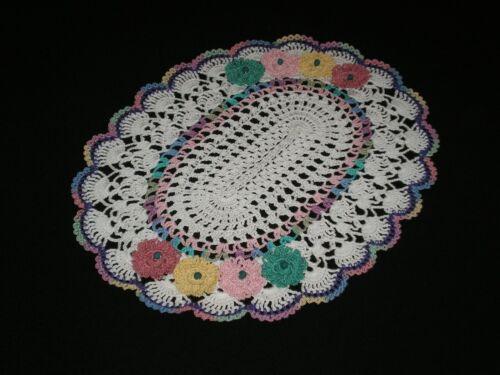 New Handmade Esater Doily Crocheted  Flowers