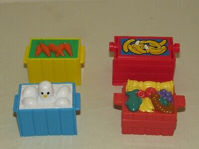 Fisher-Price Little People FOOD CRATES Noah's Ark Nativity Zoo Farm Eggs Lot 2