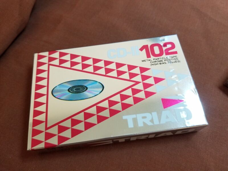 TRIAD TAIYO YUDEN CD-II 102 Metal Particle Audio Cassette Tape Made In Japan NOS