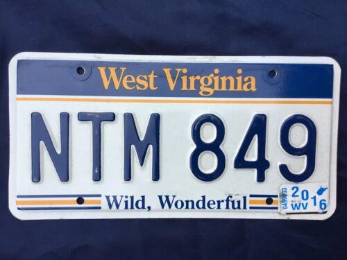 🇺🇸 US Nummernschild Kennzeichen Licenseplate USA WEST VIRGINIA  NTM 849 🇺🇸