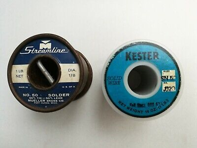 2 Rolls 5050 Solder Solid Wire Made In Usa 1 Lb Each Roll