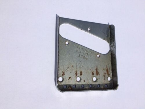 Original vintage early 1950s Telecaster bridge plate w/ early serial number