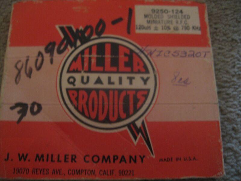 NEW OEM Miller Resistors Capacitors Molded Shielded Miniature LOT 6  #- 9250-124