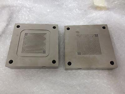 25cm2 Titanium Single Cell Fuel Cell Test Fixture Serpentine Flow Field Set2