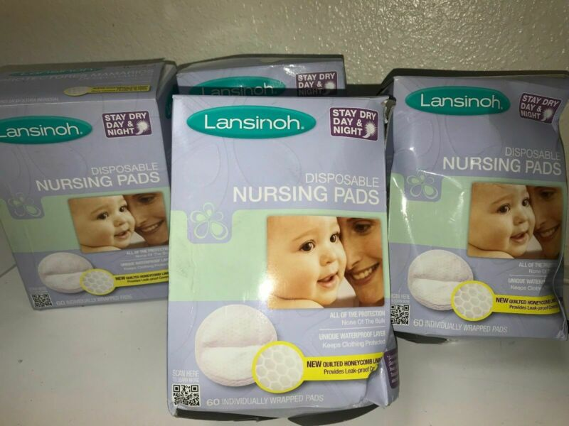 Lansinoh Disposable Nursing Pads - 4 boxes 60 ct each (bundle)
