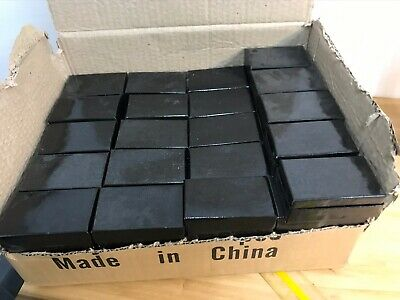 Black Boxes 22qua 2.5x 1.5 Jewelry Making Display Packaging Supplies New
