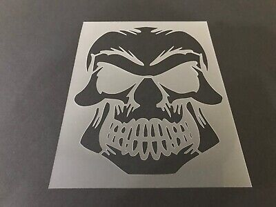 Halloween Airbrush (Skull #2 Stencil 10mm or 7mm Thick, skulls, halloween, Crafts,)
