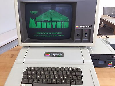 Vintage Apple II Plus Computer A2S1048, Monitor, Drives - Nice, Works