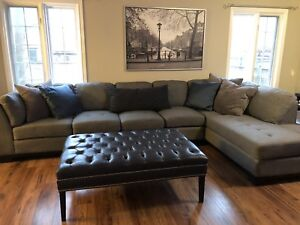 Grey couch sectional