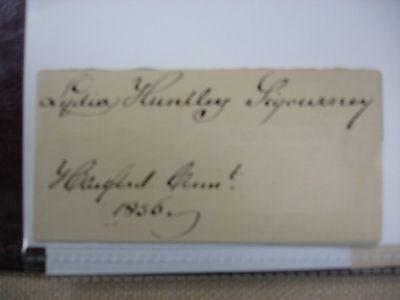 Lydia Huntley Sigourney 1856 Signature - Bible