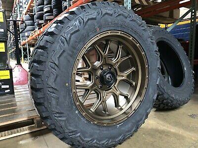 "20x10 Fuel D671 Tech Bronze 35"" MT Wheel and Tire Package 5x5.5 Dodge Ram 1500"