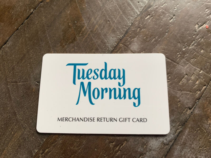 Tuesday Morning Gift Card $118.21