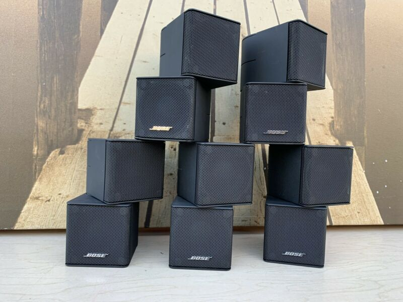 ( Price for 5) Set 5 Bose Jewel Double  Cube Premium Speakers Great Shape!!