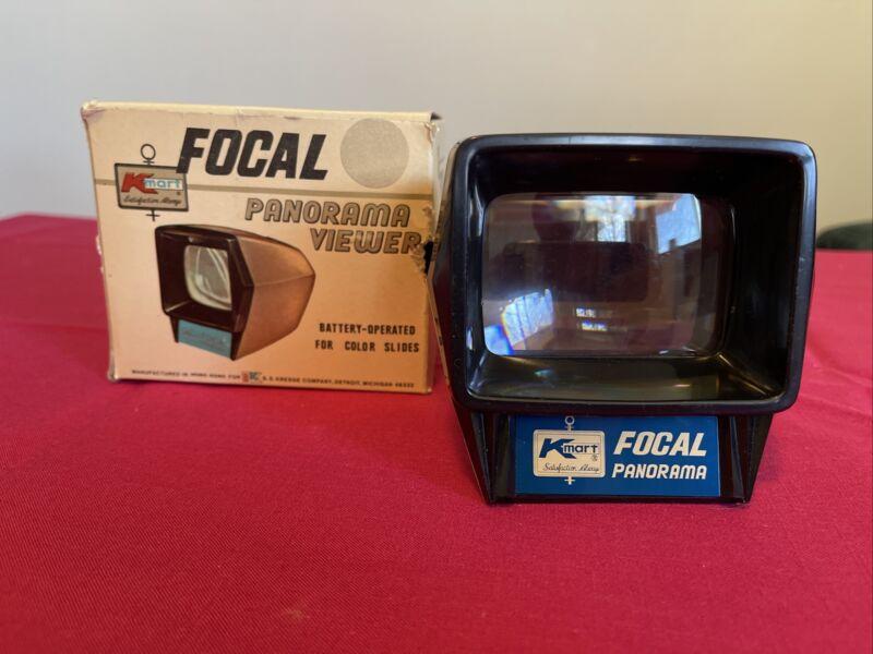 Vintage Focal Mini Panorama Illuminated 2x2 Slide Viewer with Original Box