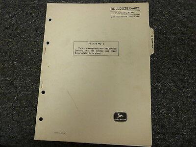 John Deere 612 Bulldozer Dozer Attachment Parts Catalog Manual Book Pc695