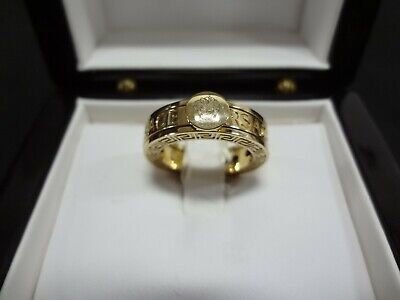 VERSACE 18K SOLID GOLD 3 PIECE RING BAND SIZE 7 VERY RARE!!!!