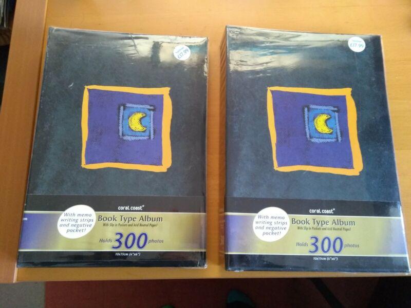 2+New+Book+Type+Photo+Album+Slip+in+Pockets+for+300+6%22+x+4%22+10cm+x+15cm+