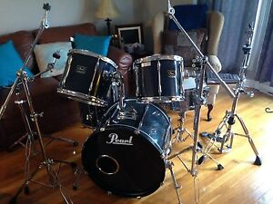 5 Piece Pearl Export drum kit with  hardware St. John's Newfoundland image 1