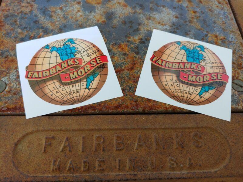 Fairbanks Morse Scale Restoration Decals Vintage Style(x2)