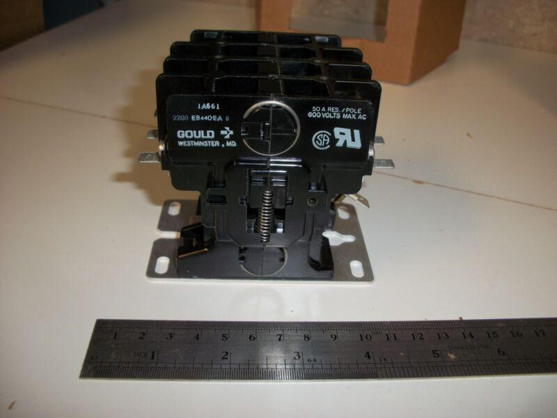 Gould 2200-EB440EA-8 Contactor, 4 pole, 40 Amp, 24V coil