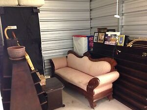 Antique Couch & 2 Custom Stands For A Store
